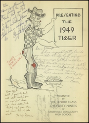 Page 5, 1949 Edition, Crossville High School - Tiger Yearbook (Crossville, IL) online yearbook collection