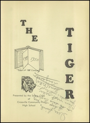 Page 7, 1950 Edition, Crossville High School - Tiger Yearbook (Crossville, IL) online yearbook collection