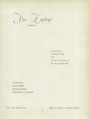 Page 5, 1952 Edition, Neponset High School - Zephyr Yearbook (Neponset, IL) online yearbook collection