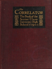 Page 1, 1908 Edition, University High School - U Highlights Yearbook (Chicago, IL) online yearbook collection