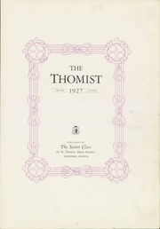 Page 7, 1927 Edition, St Thomas High School - Thomist Yearbook (Rockford, IL) online yearbook collection