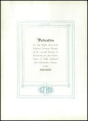 Page 8, 1928 Edition, St Thomas High School - Thomist Yearbook (Rockford, IL) online yearbook collection