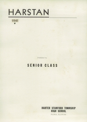Page 5, 1941 Edition, Harter Stanford Township High School - Harstan Yearbook (Flora, IL) online yearbook collection