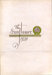 Page 2, 1920 Edition, Emporia State University - Sunflower Yearbook (Emporia, KS) online yearbook collection