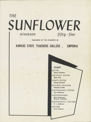 Page 5, 1955 Edition, Emporia State University - Sunflower Yearbook (Emporia, KS) online yearbook collection