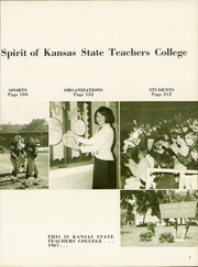 Page 11, 1967 Edition, Emporia State University - Sunflower Yearbook (Emporia, KS) online yearbook collection