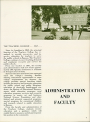 Page 13, 1967 Edition, Emporia State University - Sunflower Yearbook (Emporia, KS) online yearbook collection