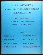 Page 10, 1973 Edition, Emporia State University - Sunflower Yearbook (Emporia, KS) online yearbook collection