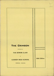 Page 5, 1934 Edition, Goshen High School - Crimson Yearbook (Goshen, IN) online yearbook collection