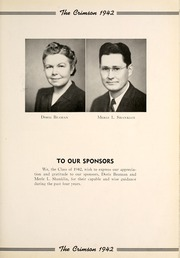 Page 11, 1942 Edition, Goshen High School - Crimson Yearbook (Goshen, IN) online yearbook collection