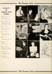 Page 14, 1942 Edition, Goshen High School - Crimson Yearbook (Goshen, IN) online yearbook collection