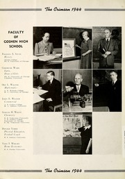 Page 14, 1944 Edition, Goshen High School - Crimson Yearbook (Goshen, IN) online yearbook collection