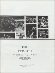 Page 5, 1982 Edition, Goshen High School - Crimson Yearbook (Goshen, IN) online yearbook collection