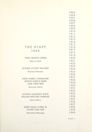 Page 11, 1940 Edition, Harvard Boys High School - Review Yearbook (Chicago, IL) online yearbook collection