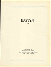 Page 7, 1941 Edition, East Lynn High School - Eastyn Yearbook (East Lynn, IL) online yearbook collection
