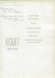 Page 7, 1940 Edition, Faulkner School for Girls - Kismet Yearbook (Chicago, IL) online yearbook collection