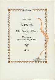 Page 5, 1927 Edition, Roodhouse Community High School - Railroader Yearbook (Roodhouse, IL) online yearbook collection