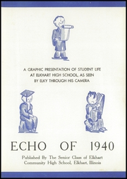 Page 7, 1940 Edition, Elkhart Community High School - Echo Yearbook (Elkhart, IL) online yearbook collection