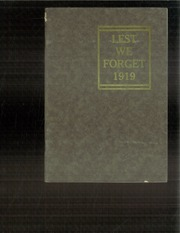 1919 Edition, Timber Township High School - Memories Yearbook (Glasford, IL)