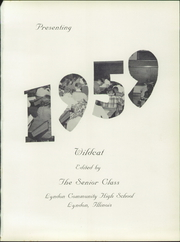 Page 5, 1959 Edition, Lyndon High School - Wildcat Yearbook (Lyndon, IL) online yearbook collection