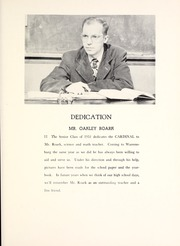 Page 13, 1951 Edition, Warrensburg High School - Cardinal Yearbook (Warrensburg, IL) online yearbook collection
