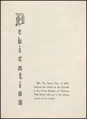 Page 5, 1942 Edition, Yorktown High School - Episode Yearbook (Yorktown, IN) online yearbook collection