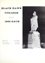 Page 5, 1966 Edition, Black Hawk College - Sauk Yearbook (Moline, IL) online yearbook collection