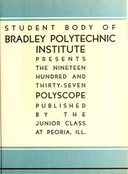 Page 13, 1937 Edition, Bradley University - Anaga Yearbook (Peoria, IL) online yearbook collection