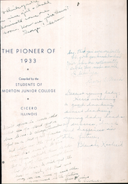 Page 7, 1933 Edition, Morton Junior College - Pioneer Yearbook (Cicero, IL) online yearbook collection