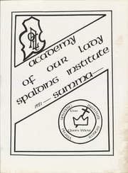 Page 5, 1981 Edition, Academy of Our Lady and Spalding Institute - Summa Yearbook (Peoria, IL) online yearbook collection