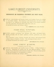 Page 3, 1892 Edition, Lake Forest College - Forester Yearbook (Lake Forest, IL) online yearbook collection