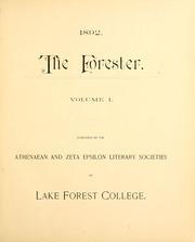 Page 5, 1892 Edition, Lake Forest College - Forester Yearbook (Lake Forest, IL) online yearbook collection