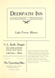Page 279, 1907 Edition, Lake Forest College - Forester Yearbook (Lake Forest, IL) online yearbook collection