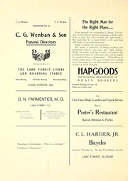 Page 280, 1907 Edition, Lake Forest College - Forester Yearbook (Lake Forest, IL) online yearbook collection