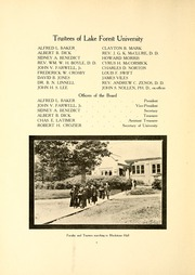 Page 14, 1909 Edition, Lake Forest College - Forester Yearbook (Lake Forest, IL) online yearbook collection