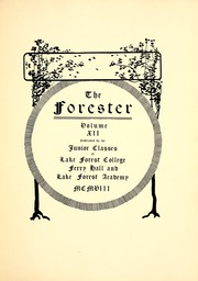 Page 9, 1909 Edition, Lake Forest College - Forester Yearbook (Lake Forest, IL) online yearbook collection