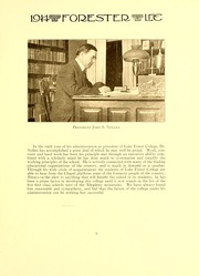 Page 13, 1914 Edition, Lake Forest College - Forester Yearbook (Lake Forest, IL) online yearbook collection