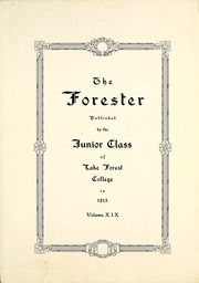 Page 3, 1916 Edition, Lake Forest College - Forester Yearbook (Lake Forest, IL) online yearbook collection