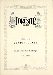Page 7, 1921 Edition, Lake Forest College - Forester Yearbook (Lake Forest, IL) online yearbook collection