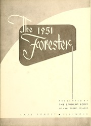 Page 7, 1951 Edition, Lake Forest College - Forester Yearbook (Lake Forest, IL) online yearbook collection