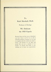 Page 9, 1933 Edition, Rockford College - Recensio Yearbook (Rockford, IL) online yearbook collection