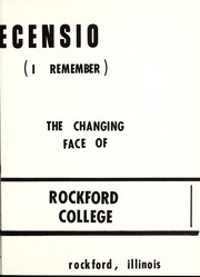 Page 7, 1966 Edition, Rockford College - Recensio / Cupola Yearbook (Rockford, IL) online yearbook collection
