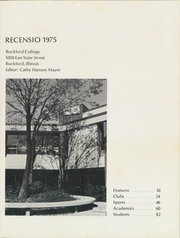Page 5, 1975 Edition, Rockford College - Recensio Yearbook (Rockford, IL) online yearbook collection