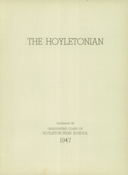 Page 7, 1947 Edition, Hoyleton High School - Hoyletonian Yearbook (Hoyleton, IL) online yearbook collection
