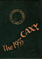 Lake Forest Academy - Caxy Yearbook (Lake Forest, IL) online yearbook collection, 1955 Edition, Page 1
