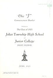 Page 9, 1923 Edition, Joliet Junior College - Shield Yearbook (Joliet, IL) online yearbook collection