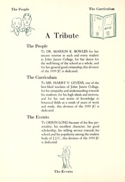 Page 8, 1939 Edition, Joliet Junior College - Shield Yearbook (Joliet, IL) online yearbook collection