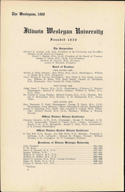 Page 10, 1908 Edition, Illinois Wesleyan University - Wesleyana Yearbook (Bloomington, IL) online yearbook collection