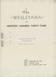 Page 7, 1933 Edition, Illinois Wesleyan University - Wesleyana Yearbook (Bloomington, IL) online yearbook collection