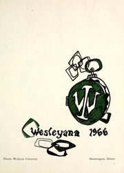 Page 5, 1966 Edition, Illinois Wesleyan University - Wesleyana Yearbook (Bloomington, IL) online yearbook collection